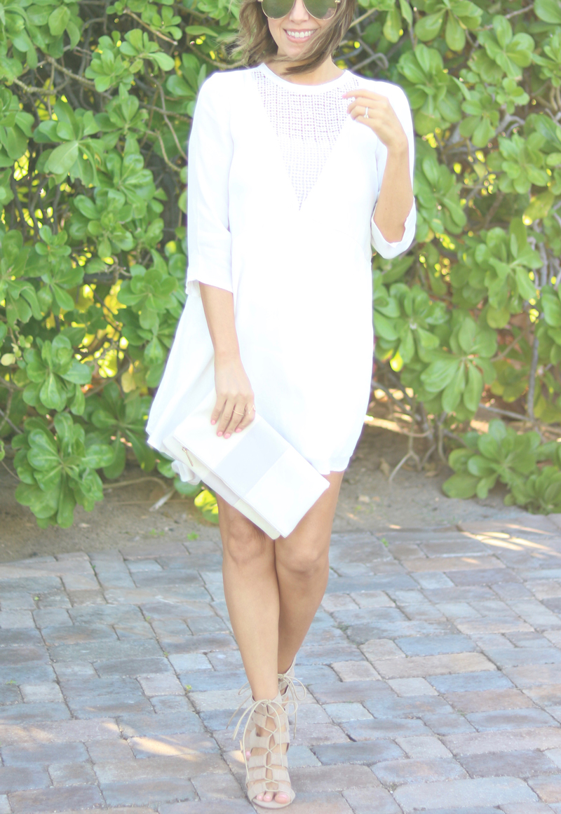 Summer fashion, casual dress, casual white dress