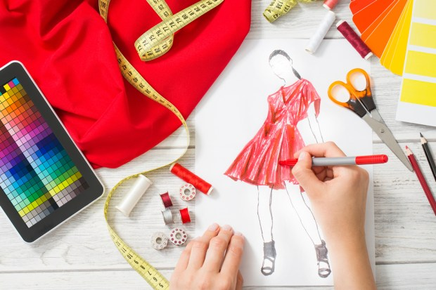 red-dress-sketch