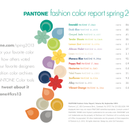 Pantone Spring Fashion Colors for 2013