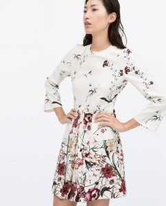 Printed front pleat dress with pocket. $99.90 http://www.zara.com/us/en/woman/dresses/printed-front-pleat-dress-with-pocket-c358003p2533615.html