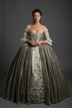 Caitriona Balfe in Outlander wedding dress
