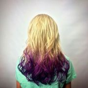 blonde-purple-dip-dye-hair