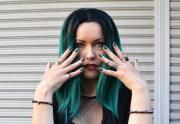 black green hair styledrift