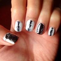 Paint Splatter Nail Design - Nail Ftempo