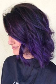 amazing dark purple hair balayage ombre violet