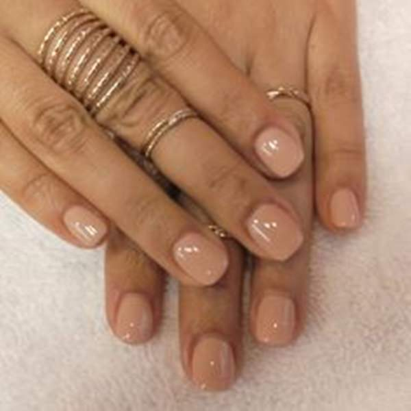 Paint Your Short Nails With Orange Color Style Acrylic Nail Design Contemporary Rings