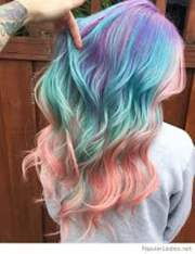 pastel and hidden rainbow hair