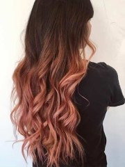 stunning rose gold hair steal