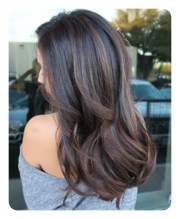 highlights black hair