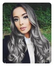 long and short grey hairstyles