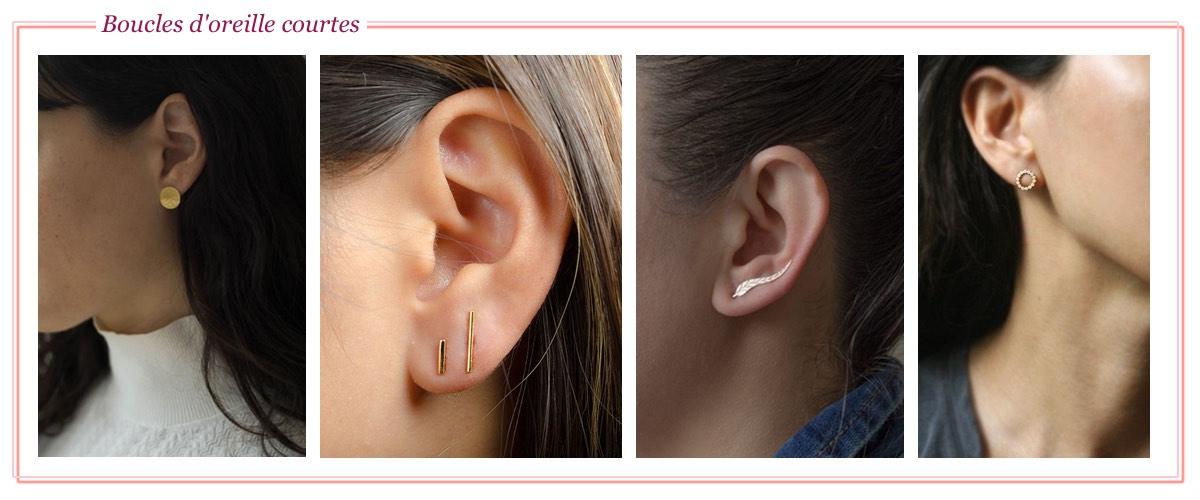 Les boucle d'oreille courte