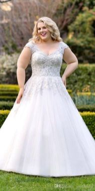 20+ Model of the Brides Dress for Fat Women to Look Stylish Slim 10
