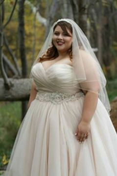 20+ Model of the Brides Dress for Fat Women to Look Stylish Slim 16