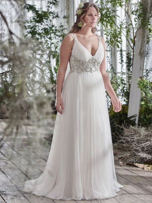 20+ Model of the Brides Dress for Fat Women to Look Stylish Slim 18