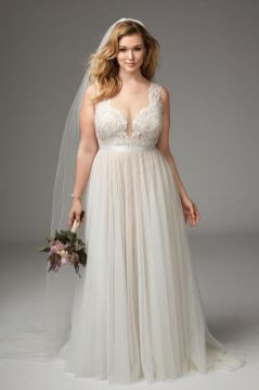 20+ Model of the Brides Dress for Fat Women to Look Stylish Slim 4
