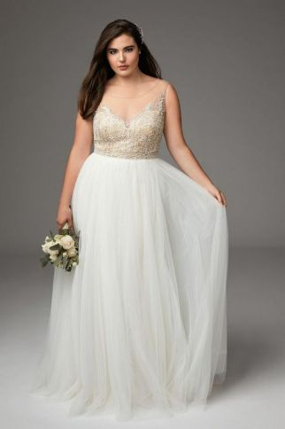20+ Model of the Brides Dress for Fat Women to Look Stylish Slim 5