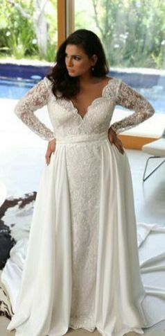 20+ Model of the Brides Dress for Fat Women to Look Stylish Slim 7