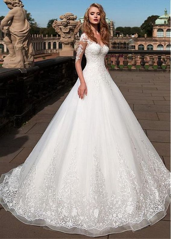 20+Collection of The Most Popular Wedding Dresses at The Moment Ideas 12