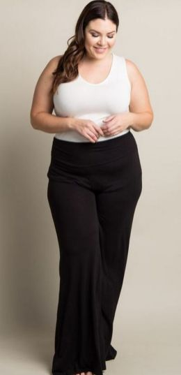 30 Fashion plus size outfit with black pants 11