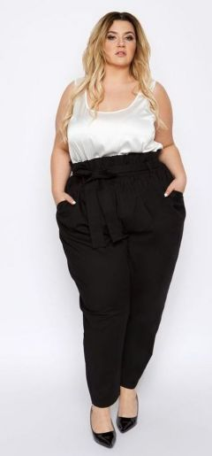 30 Fashion plus size outfit with black pants 12