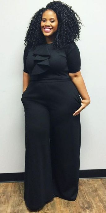 30 Fashion plus size outfit with black pants 24