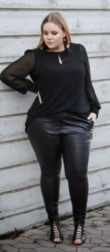 30 Fashion plus size outfit with black pants 31
