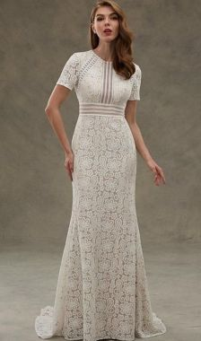 40 Beautiful wedding dresses for 40 year old brides ideas 10
