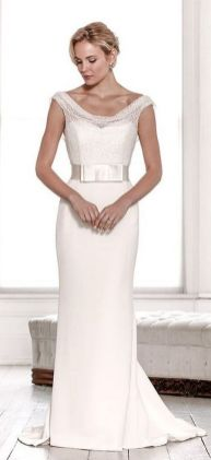 40 Beautiful wedding dresses for 40 year old brides ideas 45