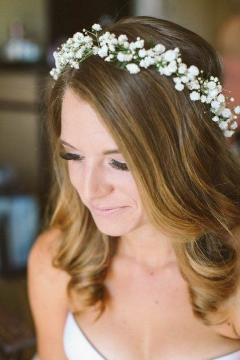 60+Bridal Flower Crowns Perfect for Your Wedding Ideas 13