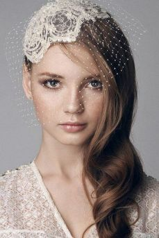 70+ Best Wedding lace headpiece Ideas 13