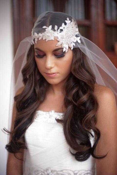 70+ Best Wedding lace headpiece Ideas 14