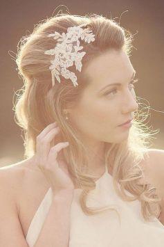 70+ Best Wedding lace headpiece Ideas 17
