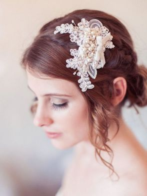 70+ Best Wedding lace headpiece Ideas 23