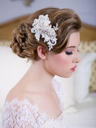 70+ Best Wedding lace headpiece Ideas 29