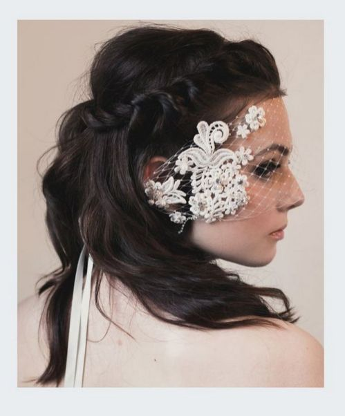 70+ Best Wedding lace headpiece Ideas 51