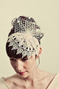 70+ Best Wedding lace headpiece Ideas 53