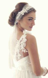 70+ Best Wedding lace headpiece Ideas 58
