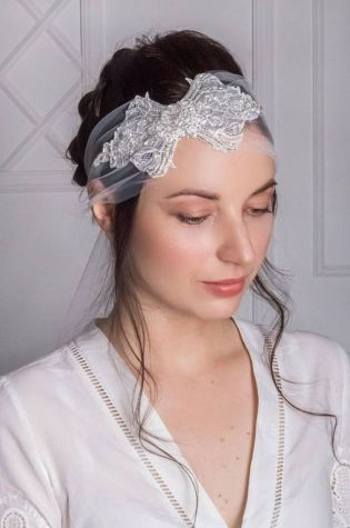 70+ Best Wedding lace headpiece Ideas 6