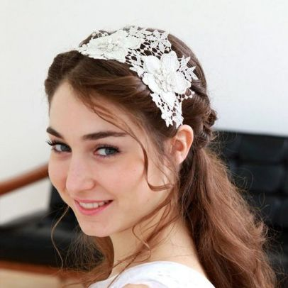 70+ Best Wedding lace headpiece Ideas 62