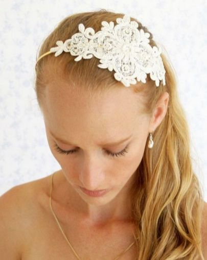 70+ Best Wedding lace headpiece Ideas 73