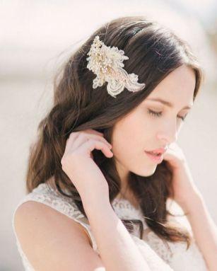70+ Best Wedding lace headpiece Ideas 79