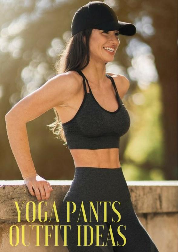 yoga pants outfit ideas