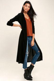 17 extra long black cardigan ideas 11