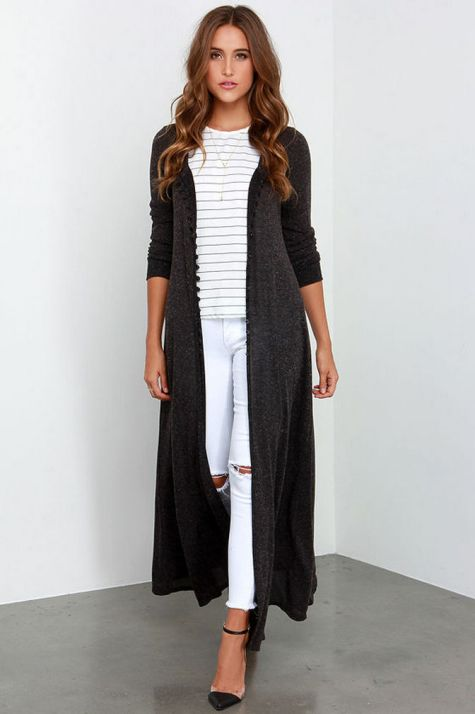 17 extra long black cardigan ideas 13