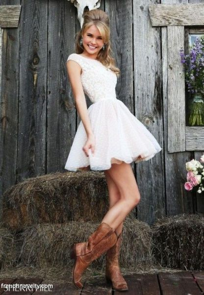 20 Best country western dresses for weddings 23