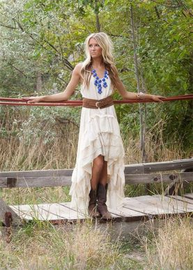 20 Best country western dresses for weddings 28