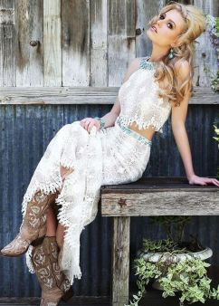 20 Best country western dresses for weddings 3