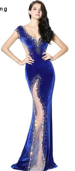 20 Elegant long prom dress sexy sweetheart mermaid party dresses 18