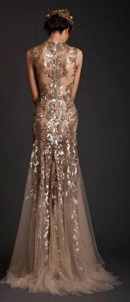 20 Gold Prom Dresses Flower ideas 1