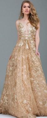 20 Gold Prom Dresses Flower ideas 11